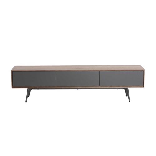 mobilier gris pas cher pour salon meuble télé bois et gris épuré
