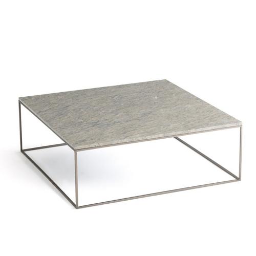 mobilier gris pas cher pour salon table basse carrée plateau marbre