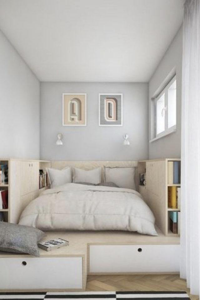 où gagner place chez soi chambre estrade design en bois pour le lit