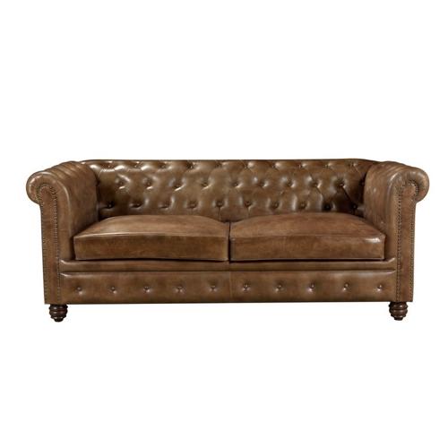 ou trouver canape cuir confortable style ancien chesterfield capitonné élégant couleur naturel camel