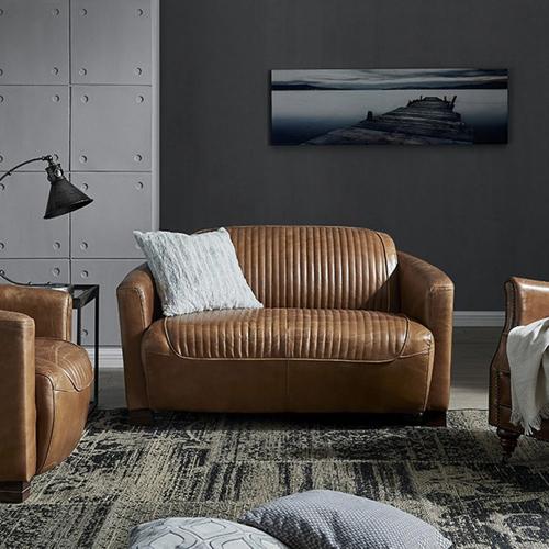 ou trouver canape cuir confortable 2 places original vintage et élégant
