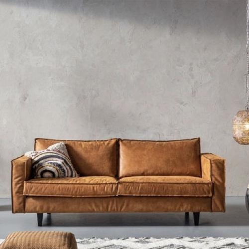 ou trouver canape cuir confortable 3 à 4 places cuir camel patiné tendance moderne