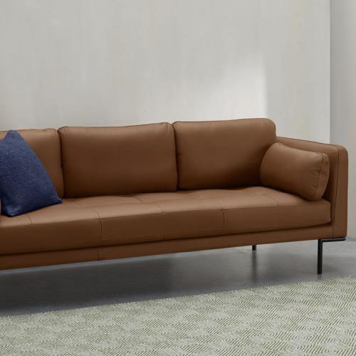 ou trouver canape cuir moderne elegant pied metal discret