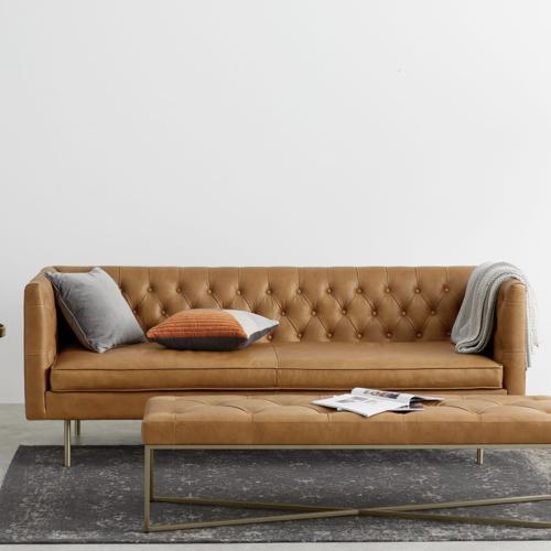 ou trouver canape cuir moderne grand modèle capitonné