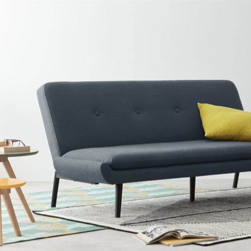 ou trouver canape lit design pas cher gris noir moderne