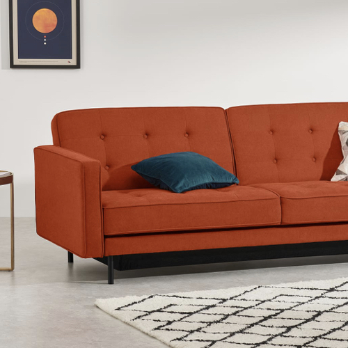 ou trouver canape lit design pas cher couleur originale orange
