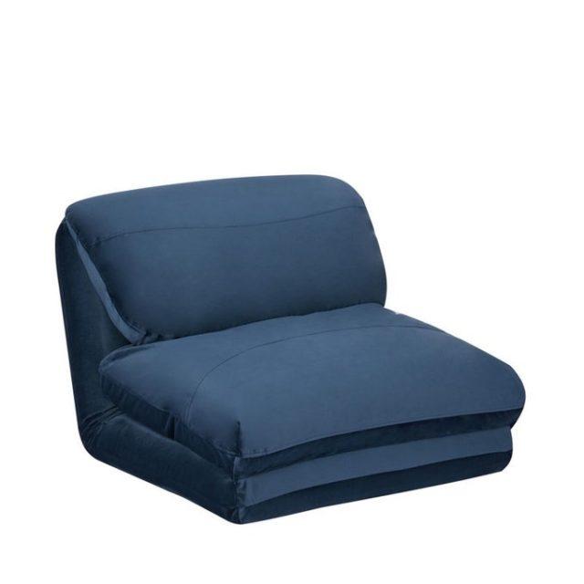 ou trouver chauffeuse convertible pas cher gain de place couchage appoint bleu