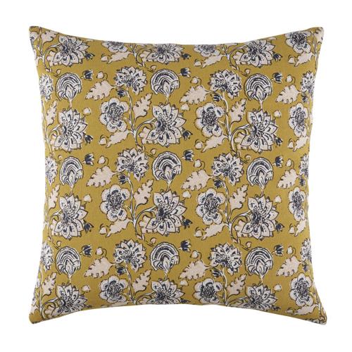 ou trouver housse coussin couleur pantone 2021 jaune et gris à fleur