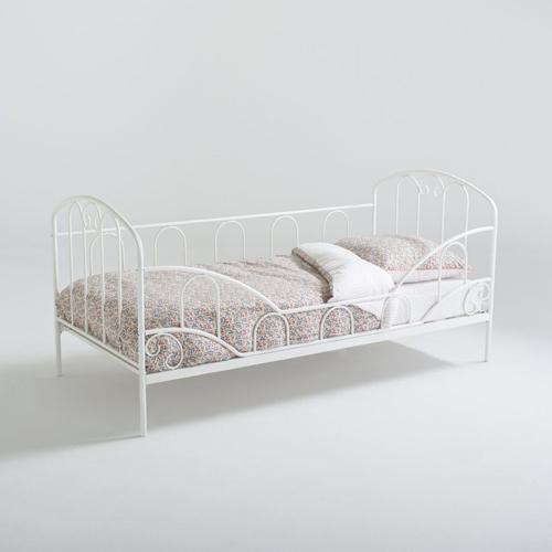 ou trouver lit enfant metal banquette blanc
