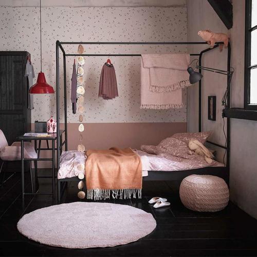 ou trouver lit enfant metal baldaquin noir 90 x 200