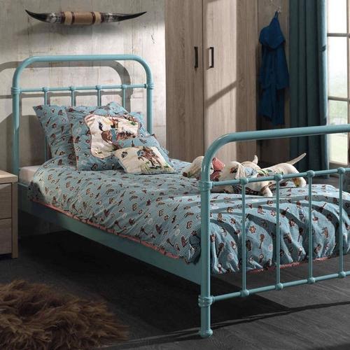 ou trouver lit enfant metal couleur bleu