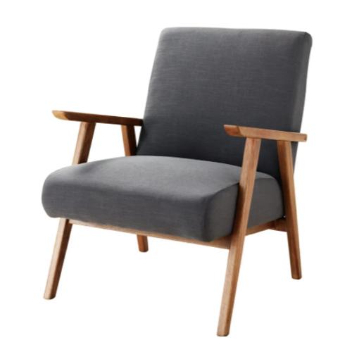 ou trouver meuble salon séjour gris fauteuil vintage