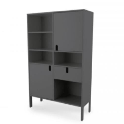 ou trouver meubles deco gris bibliothèque moderne