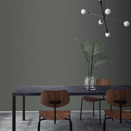 ou trouver peinture foncee gris moderne cosy salle a manger bois