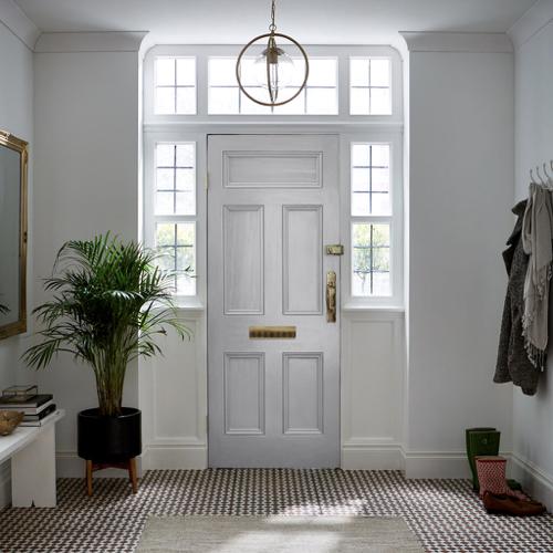 ou trouver peinture gris clair moderne porte entree lumineuse