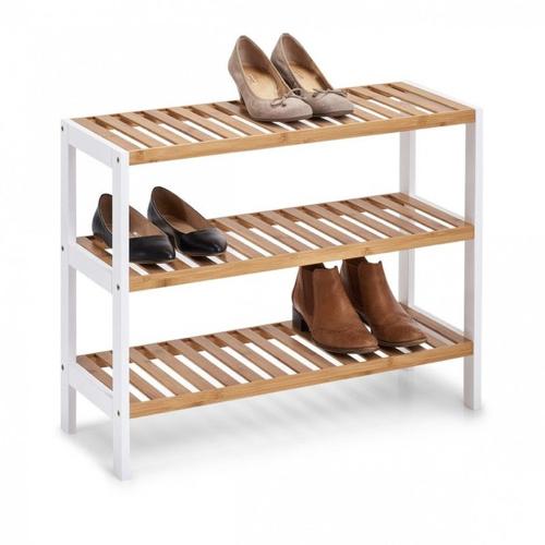 ou trouver petit meuble chaussure pas cher étagère bois et blanc