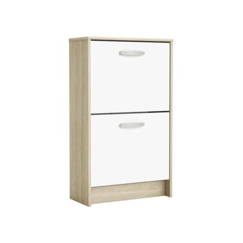 ou trouver petit meuble chaussure petit prix 2 tiroirs bois et blanc