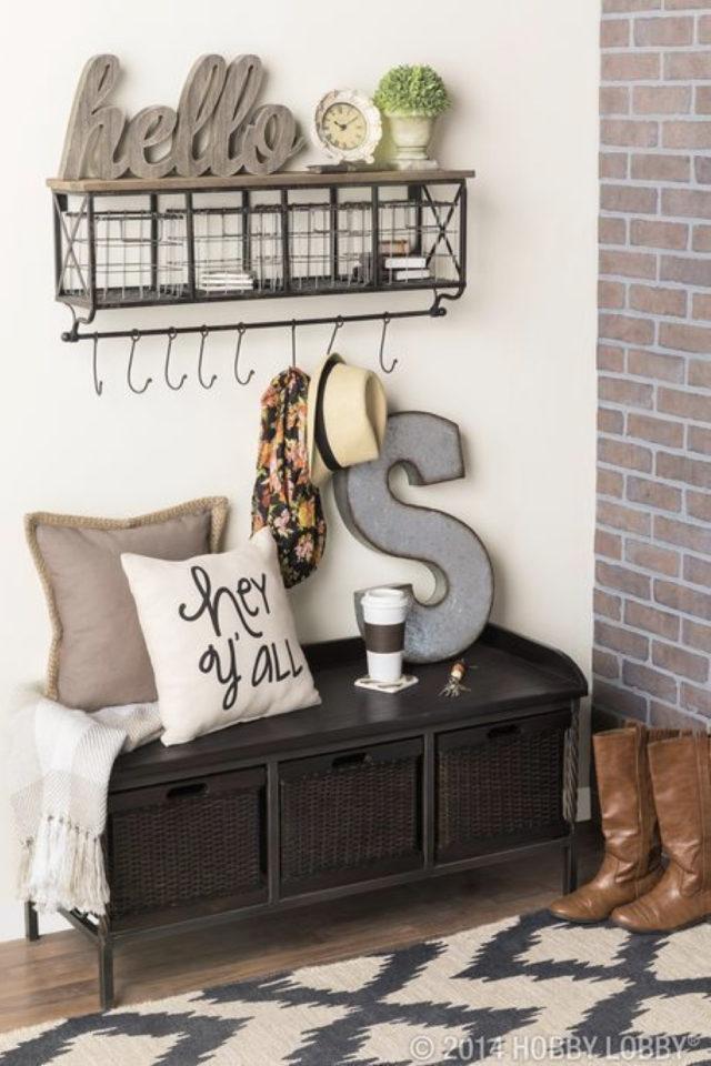 petite entree meuble a chaussure exemple decoration authentique chic