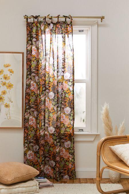 rideaux a motif fleur style boheme poetique