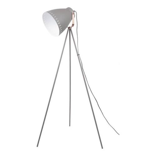 salon accessoire deco design gris lampadaire pied triple