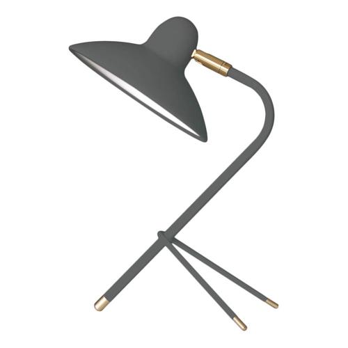 salon accessoire deco design gris lampe à poser rétro