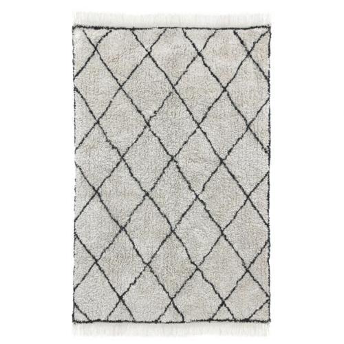 salon accessoire deco design gris tapis berbère