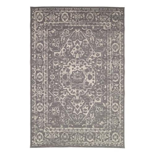 salon accessoire deco design gris tapis persan gris clair