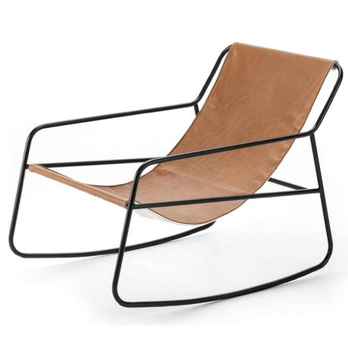 salon amenagement coin lecture fauteuil design rétro cuir
