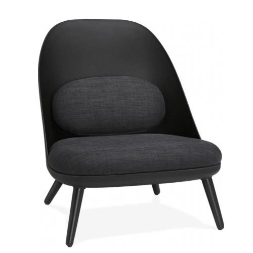 salon amenagement coin lecture fauteuil simple et élégant noir