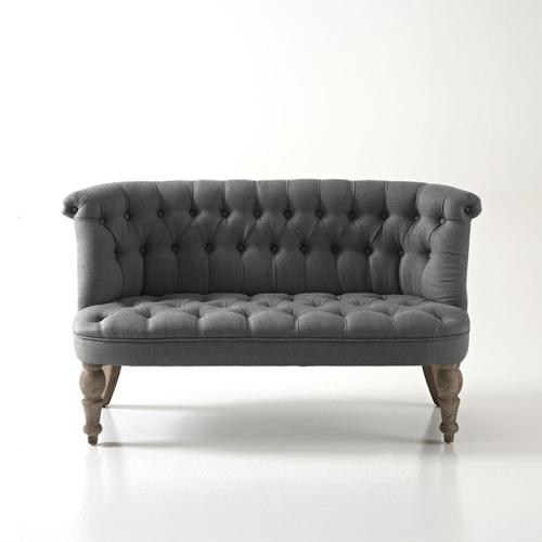 style classique chic deco gris canapé capitonné