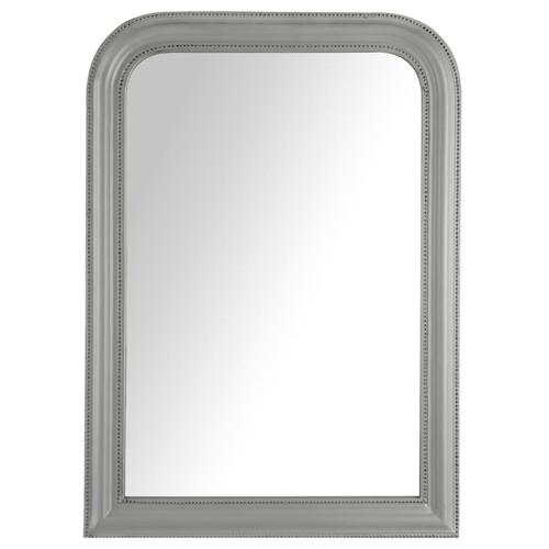 style classique chic deco gris miroir encadrement peint