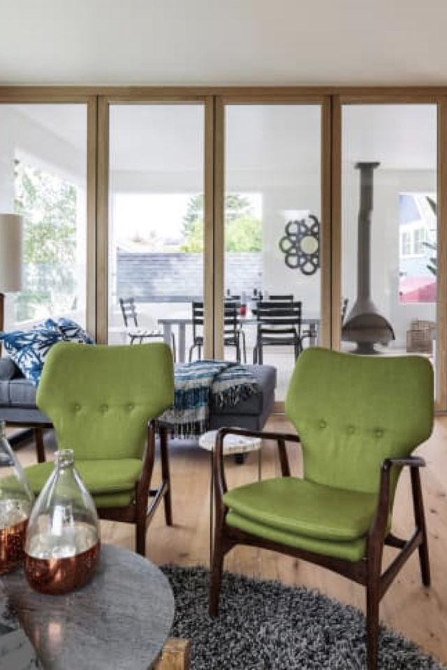 style mid century decoration couleur fauteuil vert olive design vintage rétro années 50