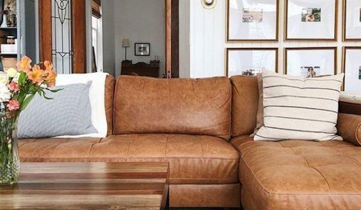 26 idees canape cuir camel salon petit salon sofa d'angle naturel moderne cadre lumineux inspiration exemple