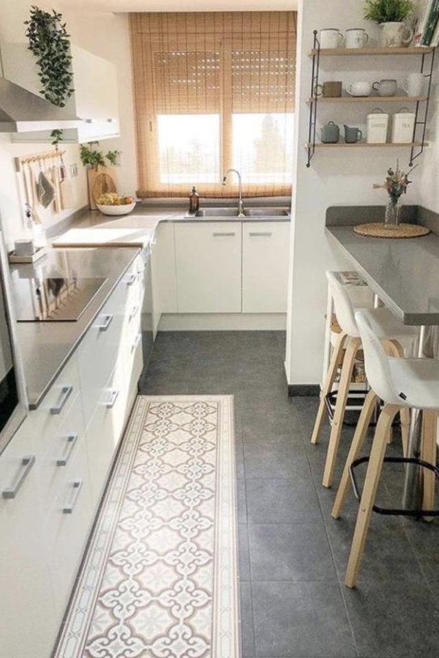 amenagement chambre etudiant exemple petite cuisine moderne decoration épurée