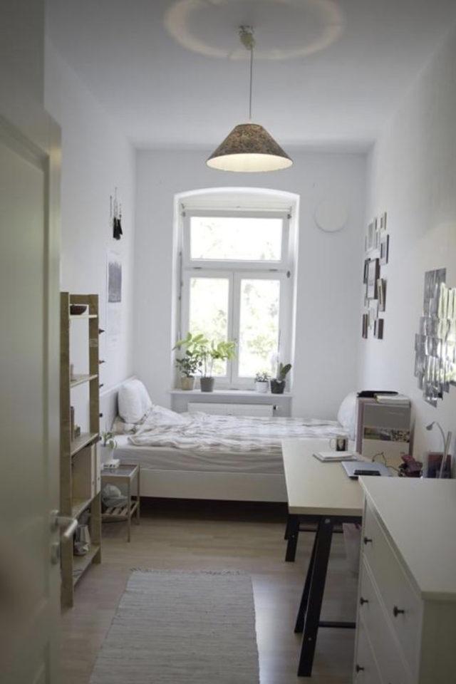 amenagement chambre etudiant exemple petite chambre etudiante tout en longueur