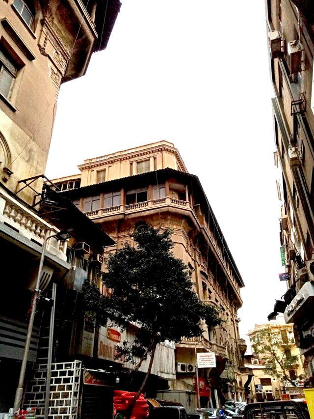 architecture patrimoine centre ville Caire balcon detail façade