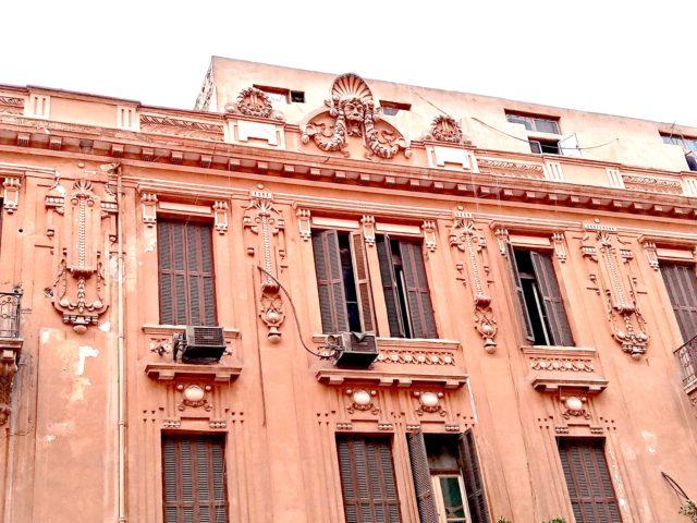 architecture patrimoine centre ville Caire sculpture façade