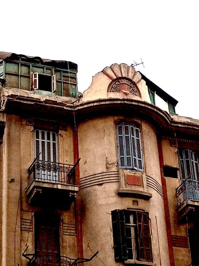 architecture patrimoine centre ville Caire detail haut immeuble