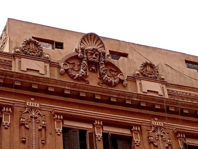 architecture patrimoine centre ville Caire détail façade baroque classique 19ème
