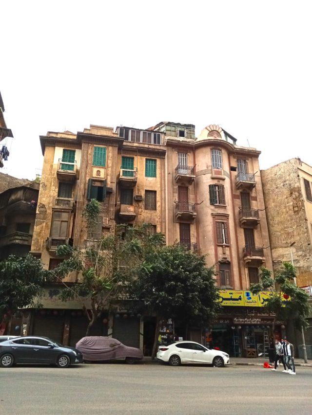 architecture patrimoine centre ville Caire immeuble ancien debut XXè