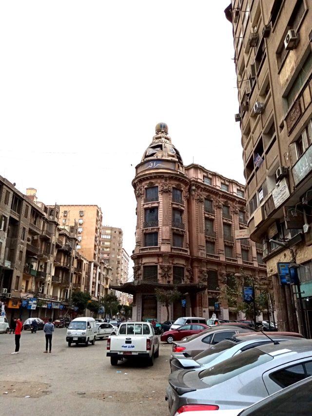 architecture patrimoine centre ville Caire façade immeuble ancien