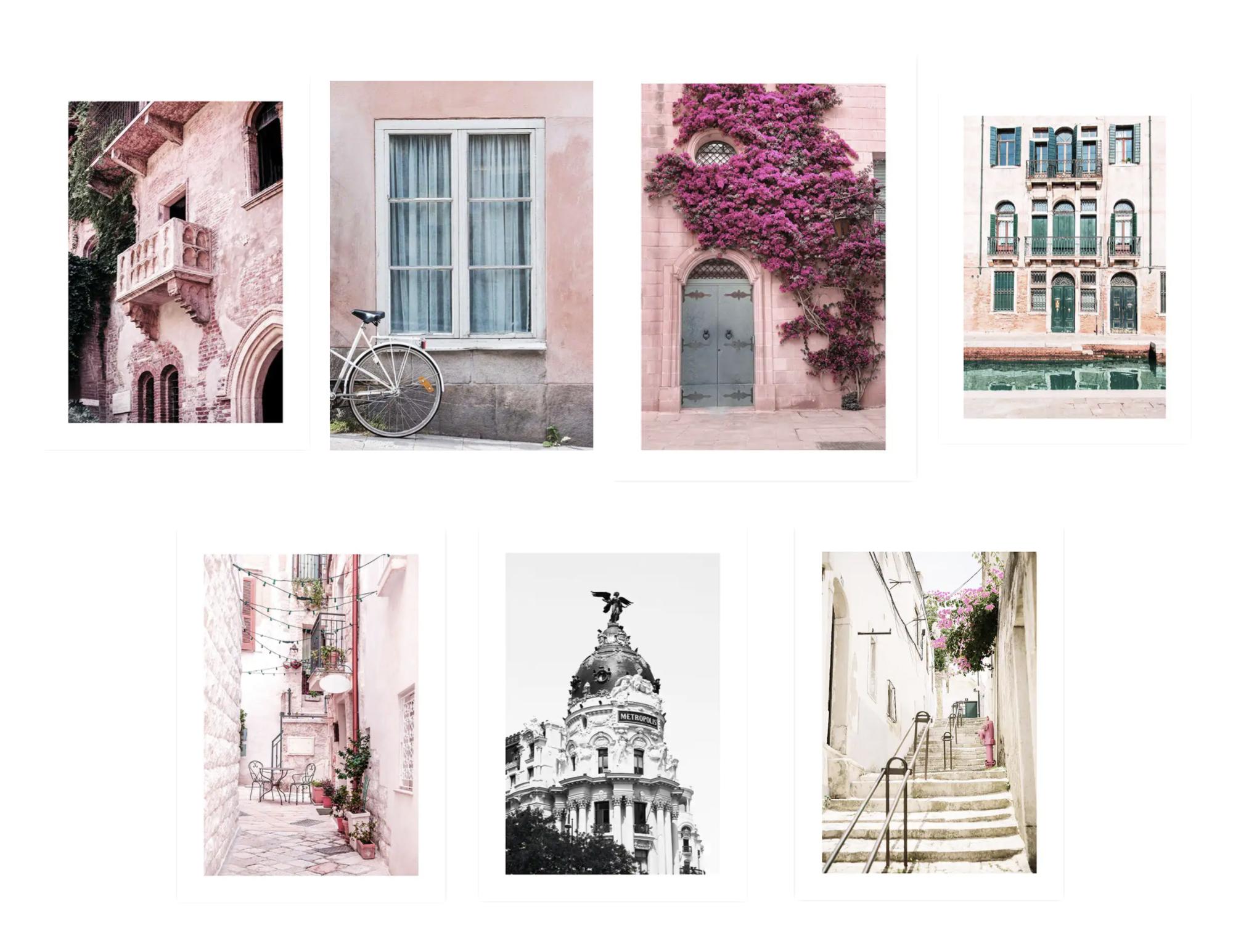 association affiche deco desenio exemple architecture façade de maison voyage couleur rose et beige
