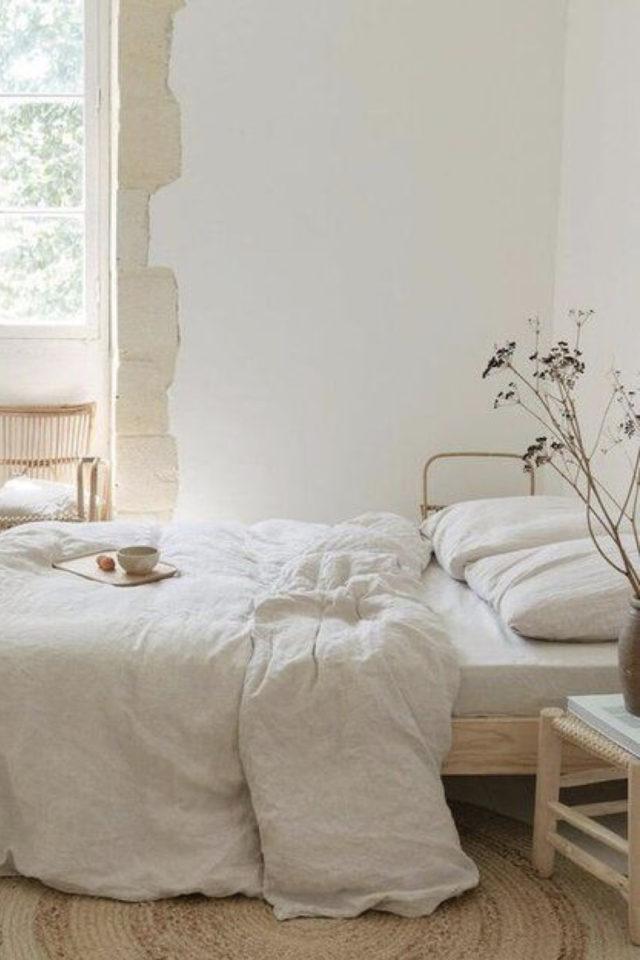 chambre deco minimaliste exemple 10 style slow déco slow living bois neutre simple
