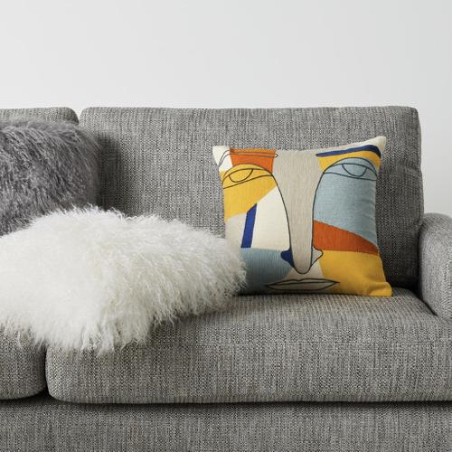 chambre etudiante mobilier decoration coussin moderne couleur visage