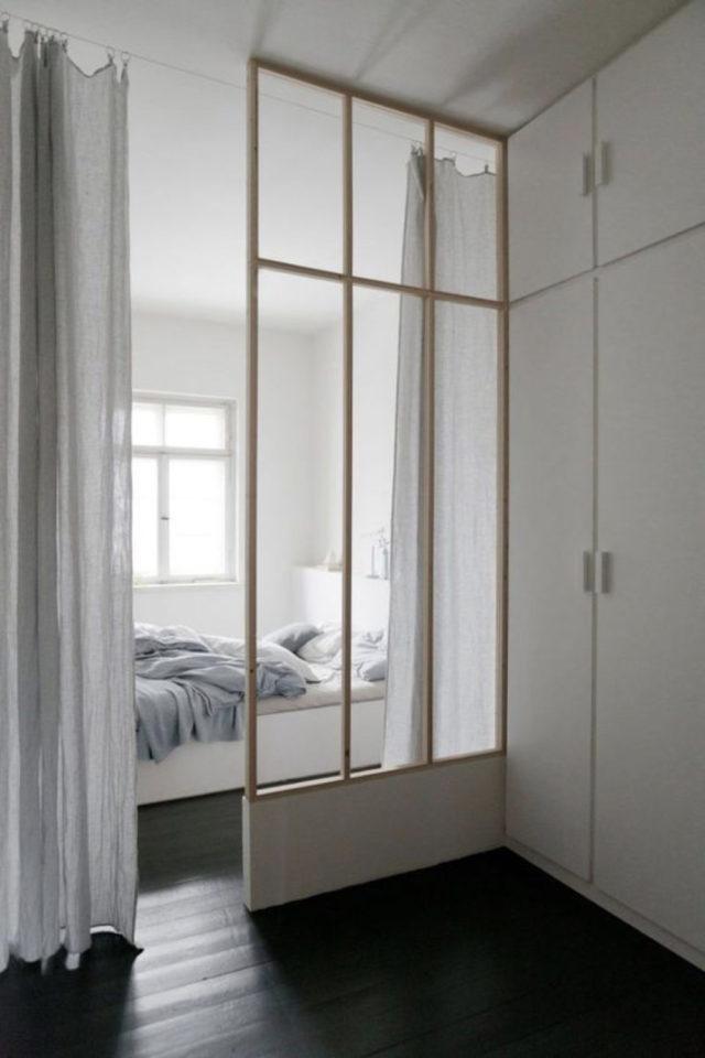 chambre lumiere naturelle verriere exemple petit second jour style atelier blanc