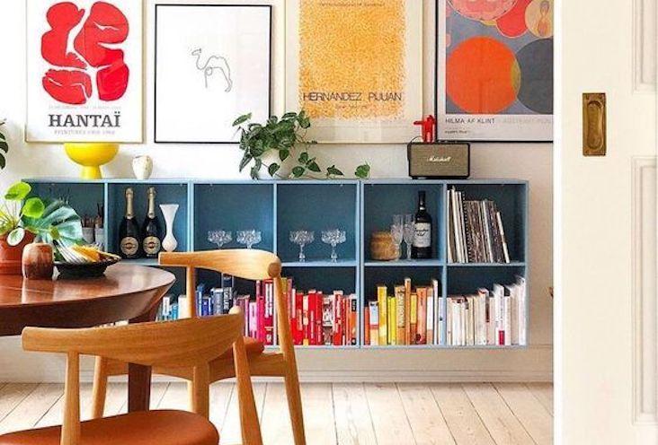 conseils amenagement coin repas sejour meuble couleur affiche deco murale