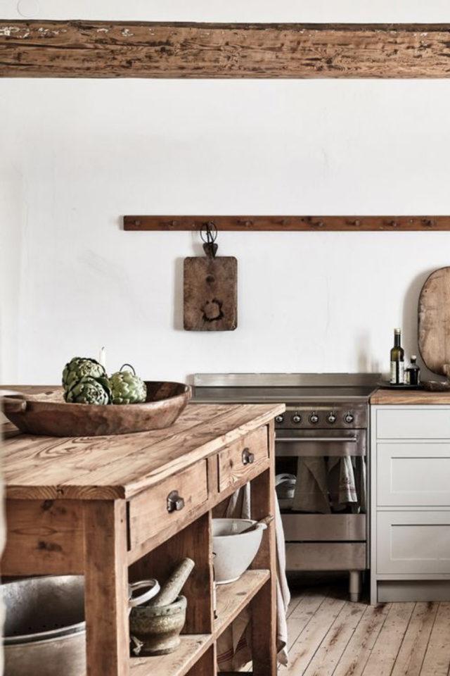 cuisine style farmhouse exemple blanc et bois