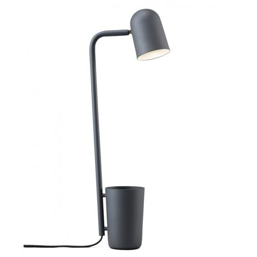 deco meuble chambre etudiant petite lampe de bureau avec pot à crayon gris anthracite