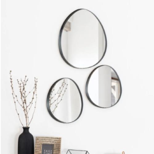 deco minimaliste chambre pas cher miroir forme organique