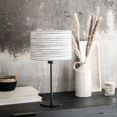 deco minimaliste chambre pas cher lampe de chevet noir et blanc slow deco